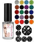 Stamping Lack Stempellack 5ml Pink Weiss Schwarz Pastell Rot  Nagellack Nails
