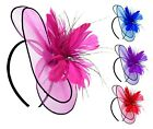 Disc Circular Saucer Shaped Hair Fascinator Hatinator Headband Wedding Women