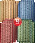 All in one Charming Door/Bath Mat Multi Color Stripe Assorted Pack w/ TPR Back