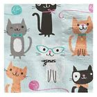 Purr fect Cats  Napkins 2ply paper Party Tableware Disposable Birthday