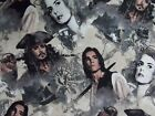 Disney Fabric Pirates of the Caribbean Jack Sparrow Quilting Cotton FQ BTHY BTY