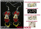 Bashful Minnie Earrings *OPTIONS* Hypoallergenic OR Clip On Mouse Earrings