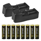 10x Garberiel 3.7V 18650 Battery Li-ion 6000mAh Rechargeable Battery+Charger Lot
