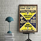 Buddy Holly Riverside Winter Dance Party Music Concert  Vintage poster print