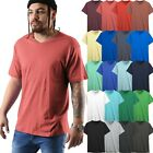 Mens V Neck T shirts Short Sleeve Solid Premium Cotton Basic Tee Casual image