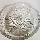 Large (8+ inches) CUT GLASS BOWL WITH FLAWS