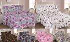 Kyпить NEW 3/4PC BED SHEET SET BEDROOM FITTED FLAT PILLOWCASES KIDS DESIGNS TWIN FULL на еВаy.соm