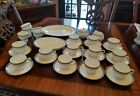 WEDGWOOD Ulander Black cups saucers vegetable bowl serving platter creamer sugar фото