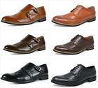 Mens Genuine Leather Oxfords Shoes Lined Wing Tip Casual Dress Heel Size 6 15