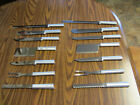 14 Rada Cutlery - 2 each of 6 Knives & 2 Carving Forks, all new unused but old