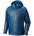 Columbia Mens S-M-L Outdry Ex Stretch Hooded Shell Jacket Phoenix Blue