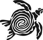 Tribal Turtle vinyl decal - For Cars, Laptops, Sticker, Mirrors, etc.