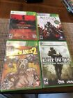 Xbox 360 Game Lot Call Of Duty 4 Assassins Creed Dead Island Borderlands 2