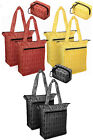 LOCK & LOCK High Fashion Retro Insulated Cooler Bag and Grocery Bag in 3 Colors