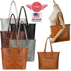 Women Leather Purses and Handbags Shoulder Hobo Crossbody Tote Bag T0002 image