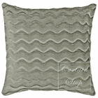 """Waves Heavy Chenille Plain Cushions and Covers 17"""" (43cm), Silver Grey"""