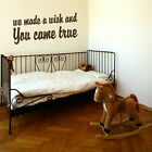 MADE a wish wall decal sticker quote art baby room transfer graphic vinyl QU65