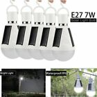 5Pcs 7W Solar Panel Powered LED Light Bulb Indoor Outdoor Garden Camping Lamp