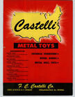 1950 PAPER AD 4 PG Castelli Metal Toys Standard Super Tractor Pedal Car Doll Toy