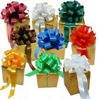 """Assorted Lg Christmas Pull Bows for Gifts, Wreaths, Garlands Sets of 9 (8""""or 9"""")"""