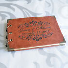 vintage wedding guestbook - Personalized Wedding Guestbook A5 A4 Vintage Book Look Style Custom Leather Coat