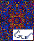 "3D Tapestry ""Psychedelic Liquid A"" (Glasses Included) - 2 Sizes"