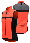 Cycling Bicycle Bike Outdoor Sleeveless Jersey Wind Vest Orange