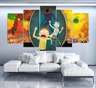 5 Panel Rick and Morty Canvas Panel Wall Art Print Picture Print Framed UNframed