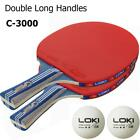 Table Tennis Racket Ping Pong Paddle Bat Long Short Handle For Training Practice