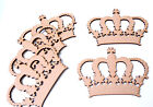 Wooden Mdf Crown Shape Royal Princess Crown Craft Blank Badge Emblem Shape