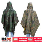 2 in 1 Military Camo Raincoat Outdoor Hooded Camping Hunting Waterproof poncho