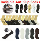 3-12 Pairs Men Invisible No Show Nonslip Loafer Boat Low Cut Cotton Socks