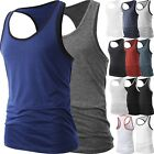 Men Muscle Tank Top T Shirt Ribbed Fashion Sleeveless Gym Tee Casual A-Shirt  image
