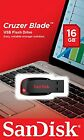 NEW Sandisk 16GB Cruzer Blade CZ50 USB 2.0 Flash Memory Stick Pen Drive UK Stock