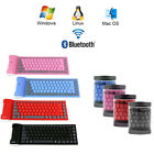 bluetooth keyboard foldable - Foldable Wireless Bluetooth Keyboard Silicone Waterproof Flexible For PC Laptop