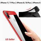 iPhone Case For 6 6s 7 8 Plus X Hybrid TPU PC Clear Cover Thin Shockproof Lot