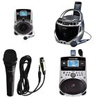 NEW Karaoke USA MACHINES SD516 SD519 GQ262 + Karaoke USA microphone