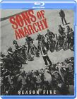 Sons of Anarchy: Season 5 (3-Disc Set), Blu-Ray With Slipcover, Brand New