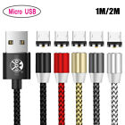 UGI 1M 2M 360 Round Magnetic USB Charger Cable For iPhone Samsung Type-C Android