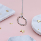 Personalised Engraved Womens Jewellery Circle Necklace Rose Gold Silver Giftbox