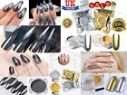 Mirror Nail Glitters Shining Powder Polishing For Nails Chrome BLACK,GOLD,SILVER