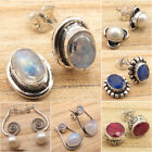 Stud Earrings  Many Gemstones, Many Styles  925 Silver Plated Fashion Jewelry