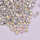 288pcs 3mm-8mm Sew On Crystal AB Glass Rhinestones Appliques Craft Dress Making