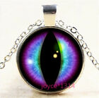 Dragon Eye Cabochon Silver/bronze/black/gold Glass Chain Pendant Necklace #7072