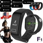 F1 Fitness Blood Pressure Tracker Heart Rate Monitor Smart Watch Wrist Bracelet