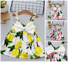 Baby infant summer girls cotton sleeveless dress holiday daily cute dress fruit