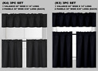 """3PC SET WINDOW SMALL CURTAIN FOAM LINED BLACKOUT PANELS IN 24"""" OR 36"""" LENGHT"""