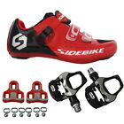 SIDEBIKE Men's Bike Cycling Shoes Pedals&Cleats Outdoor Mountain Sports Sneakers