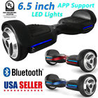 """UL2272 Bluetooth LED Lights Hoverboard 6.5"""" Self Balance Electric Scooter"""
