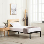 Twin Full Queen Size Metal & Wood Platform Bed with Wood Slat Support